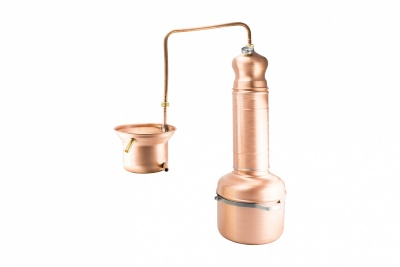 COPPER STILL SERPENTINA WITH COLUMN 5 lt.